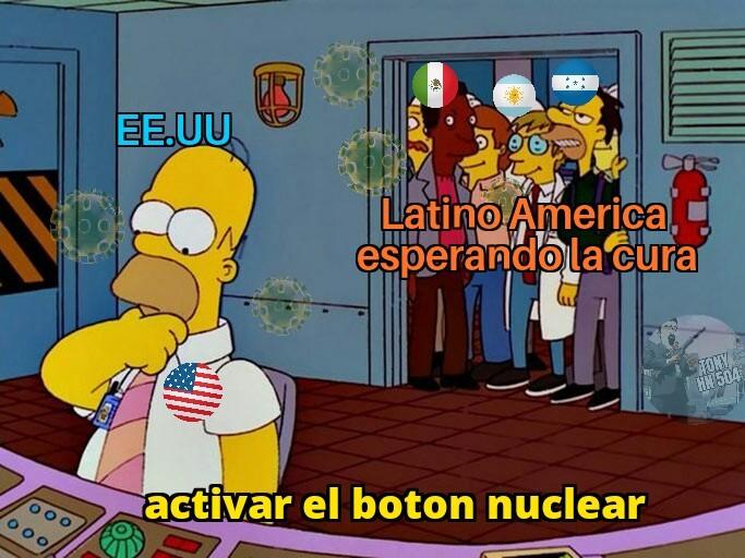 Cuidado plantilla de los Simpson - meme