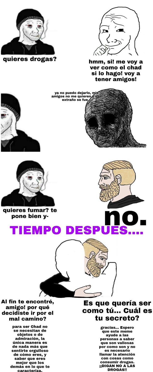 Vivan sin drogas banda - meme