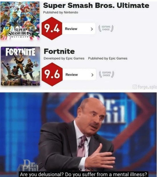Super Smash Bros vs Fortnite - meme