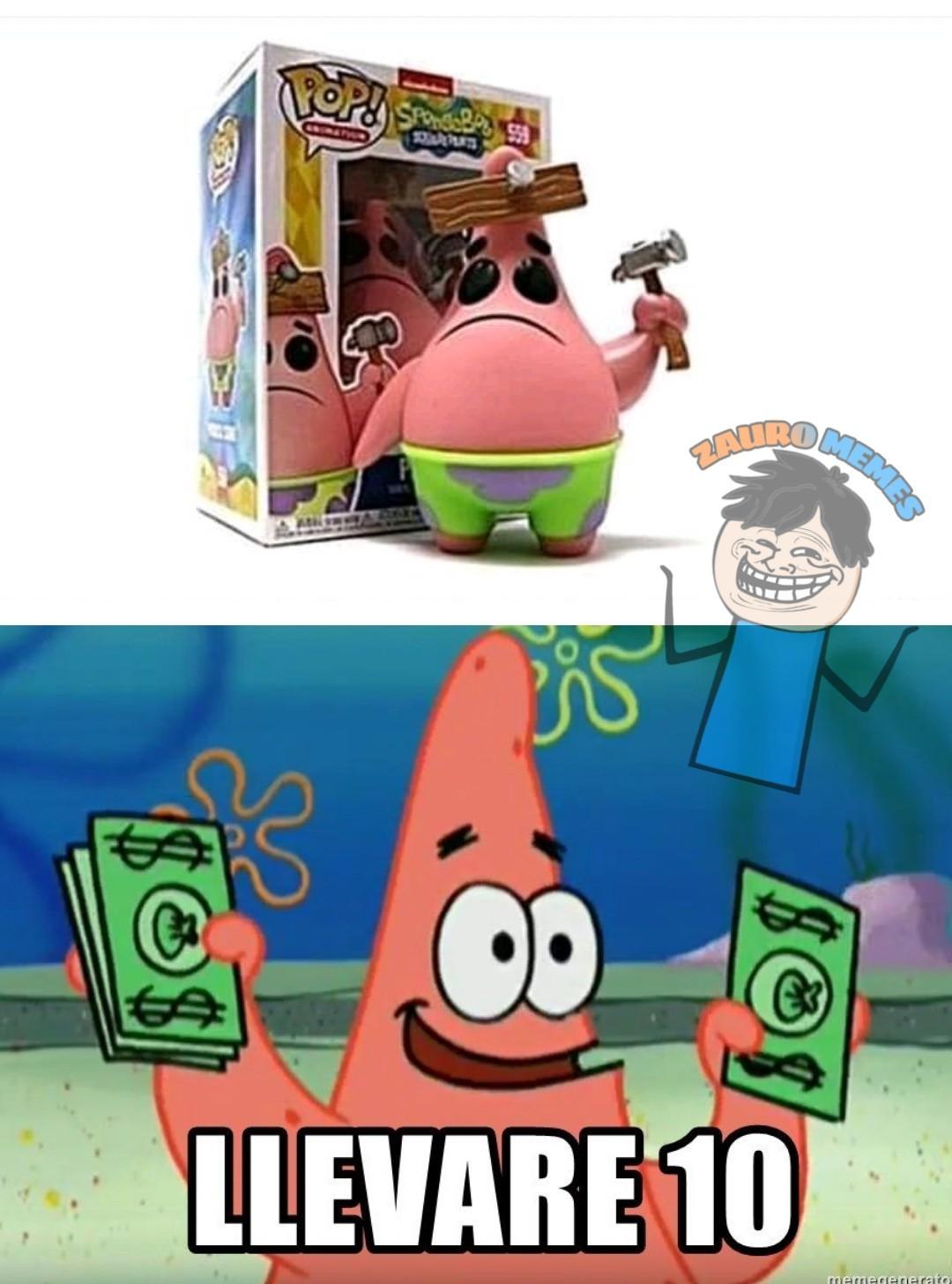 Toma todo mi dinero - meme