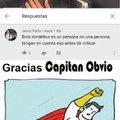 gracias capitán obvio