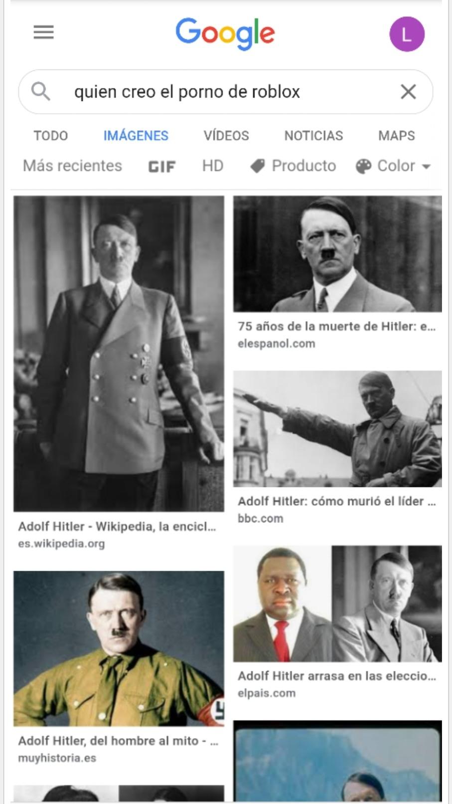 Hitler crea contenido cristiano de roblox - meme