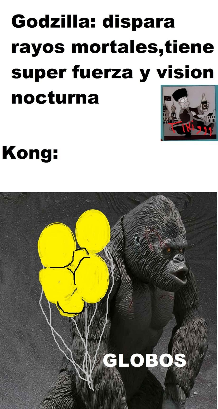 no le des negativo porque si mira la primer película de godzilla vs kong - meme