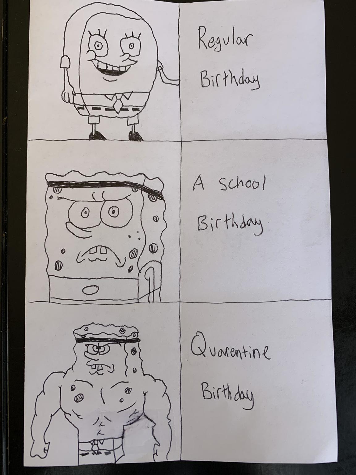 Bad hand-drawn meme
