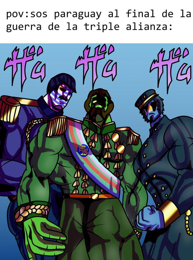otro dibujo hecho por mi de la guerra de la triple alianza con countryhumans - meme