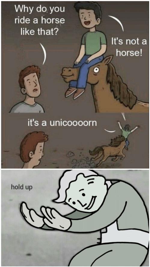 es un unicornio :o XD - meme