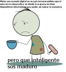 Explicación: Nicolas Maduro planea realizar un cambio en la moneda del país, haciendola digital y eliminando el efectivo. Todos sabemos que esa idea de mierda no funcionara mucho meno si el petro (otra moneda digital de el) no funciono - meme