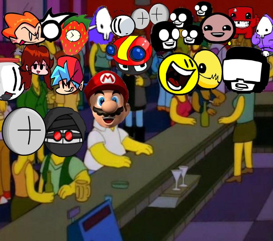 Mario y NEWGROUNDS - meme