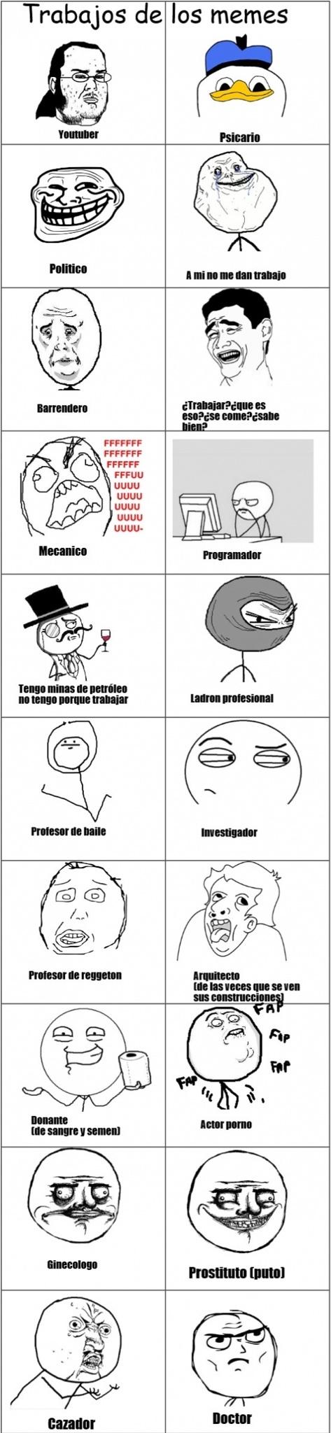 trabajos de los memes #EMG