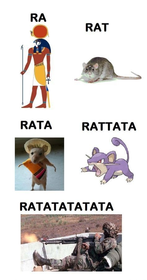 La evolución de la rata xD - meme