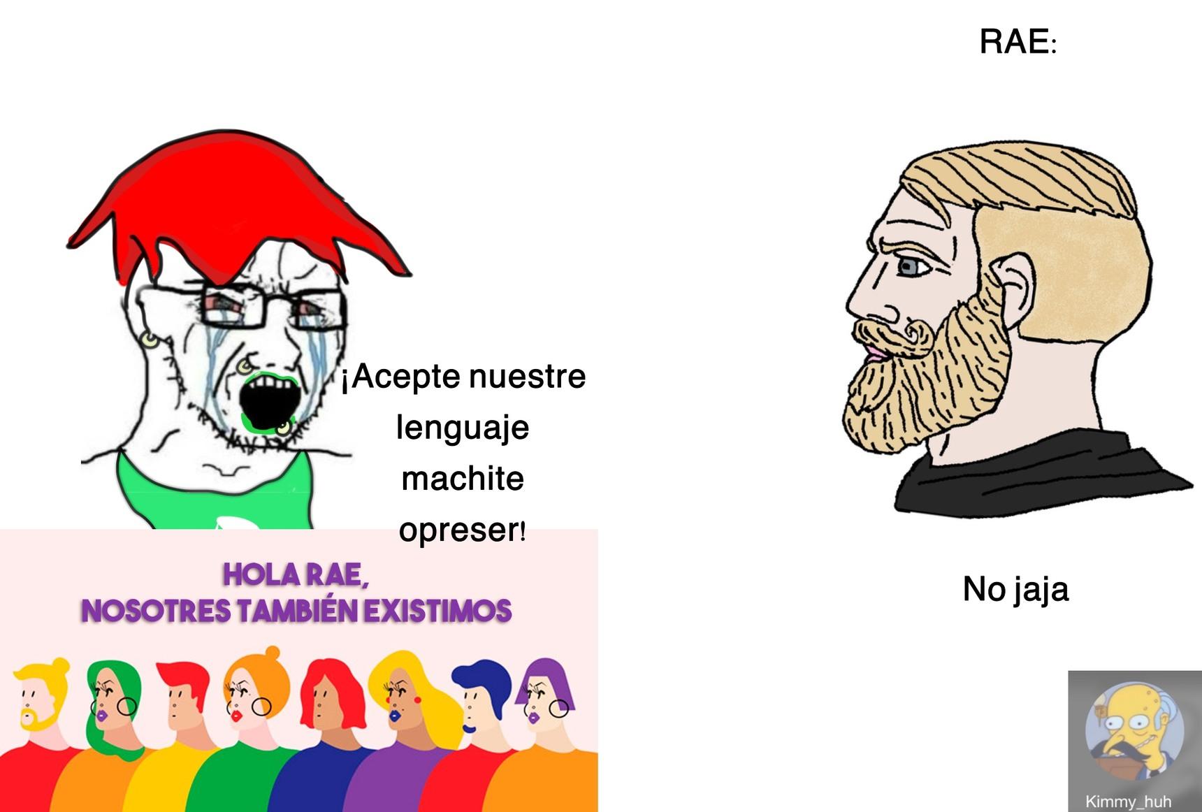 La RAE es el héroe de todos - meme