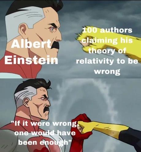 Albert Einstein is the best - meme