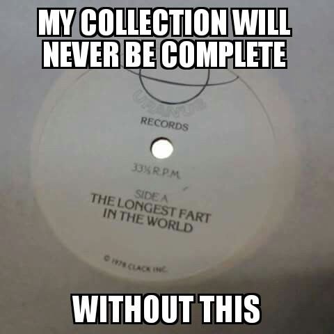 You know what they say about girls with big record collections.....they make me fucking wet - meme