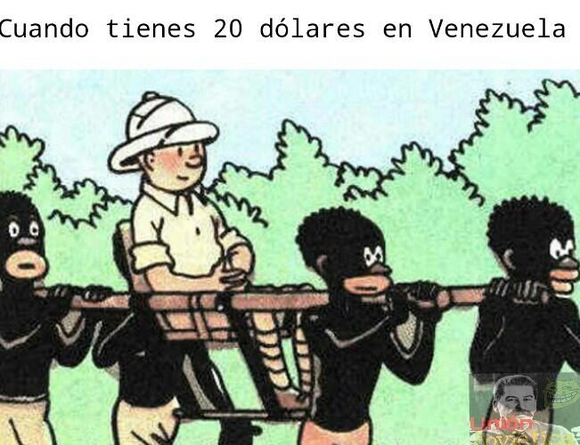 Como olvidar cuando Tintín viajó a Venezuela :v (Solo Humor) - meme