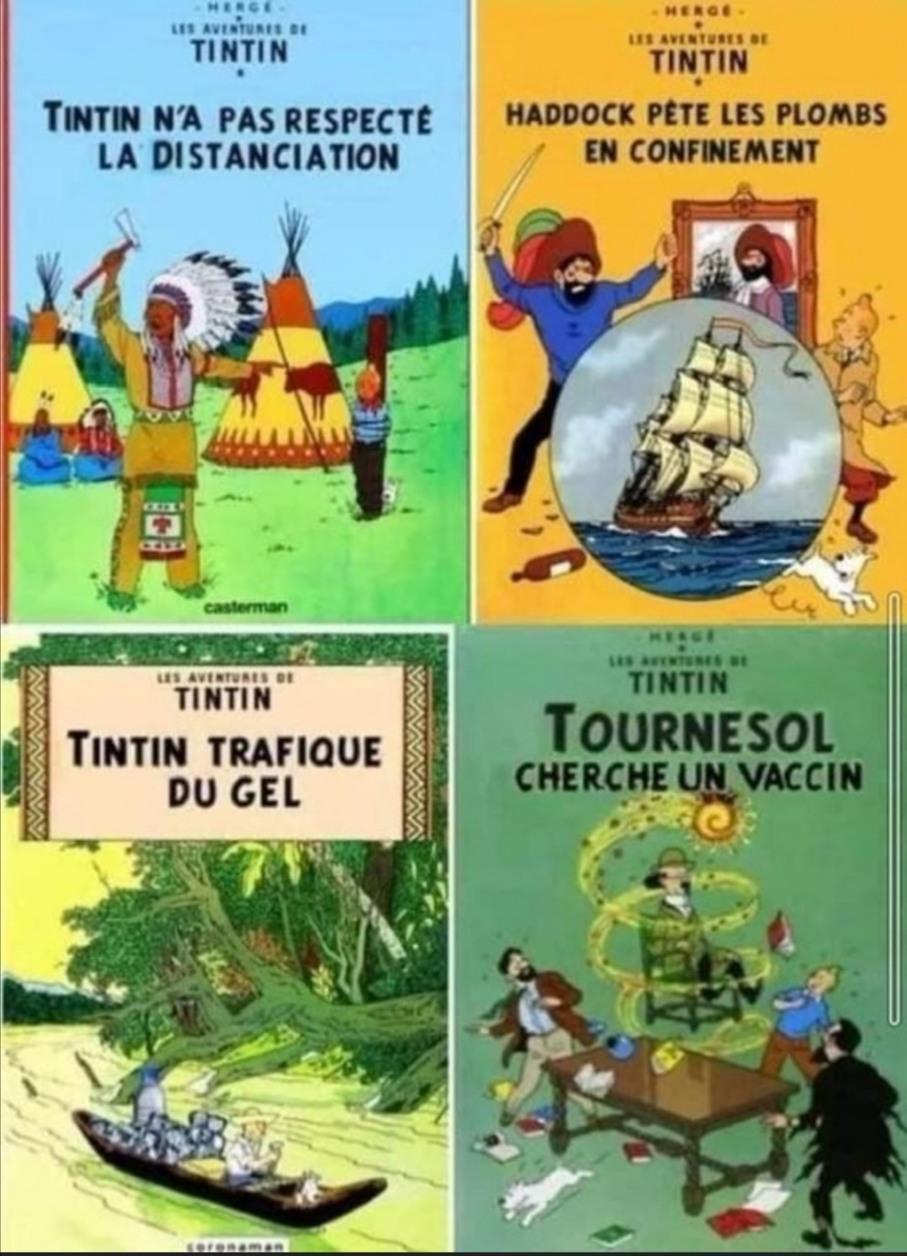 Tintin s'est fait raquer ça race. - meme