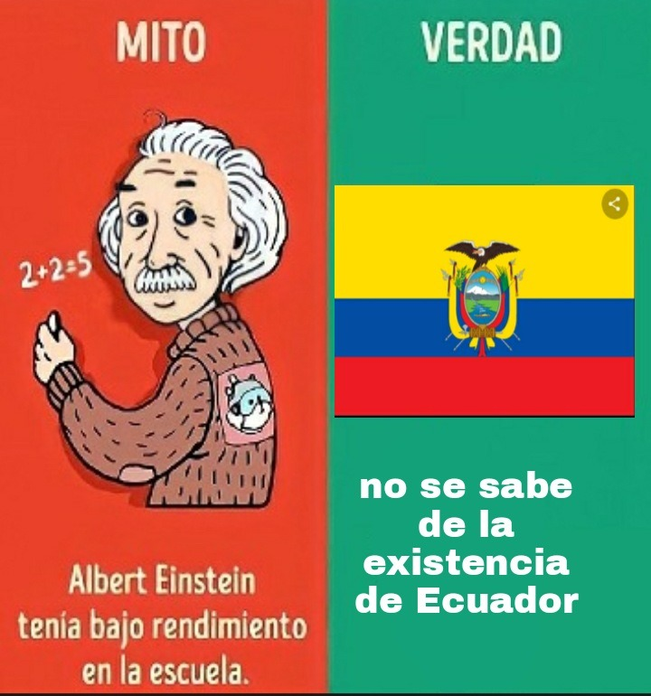 Ecuador no existe - meme