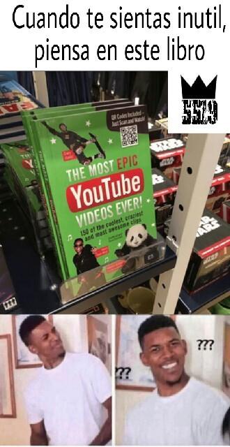 El libro de los videos más épicos de YouTube - meme