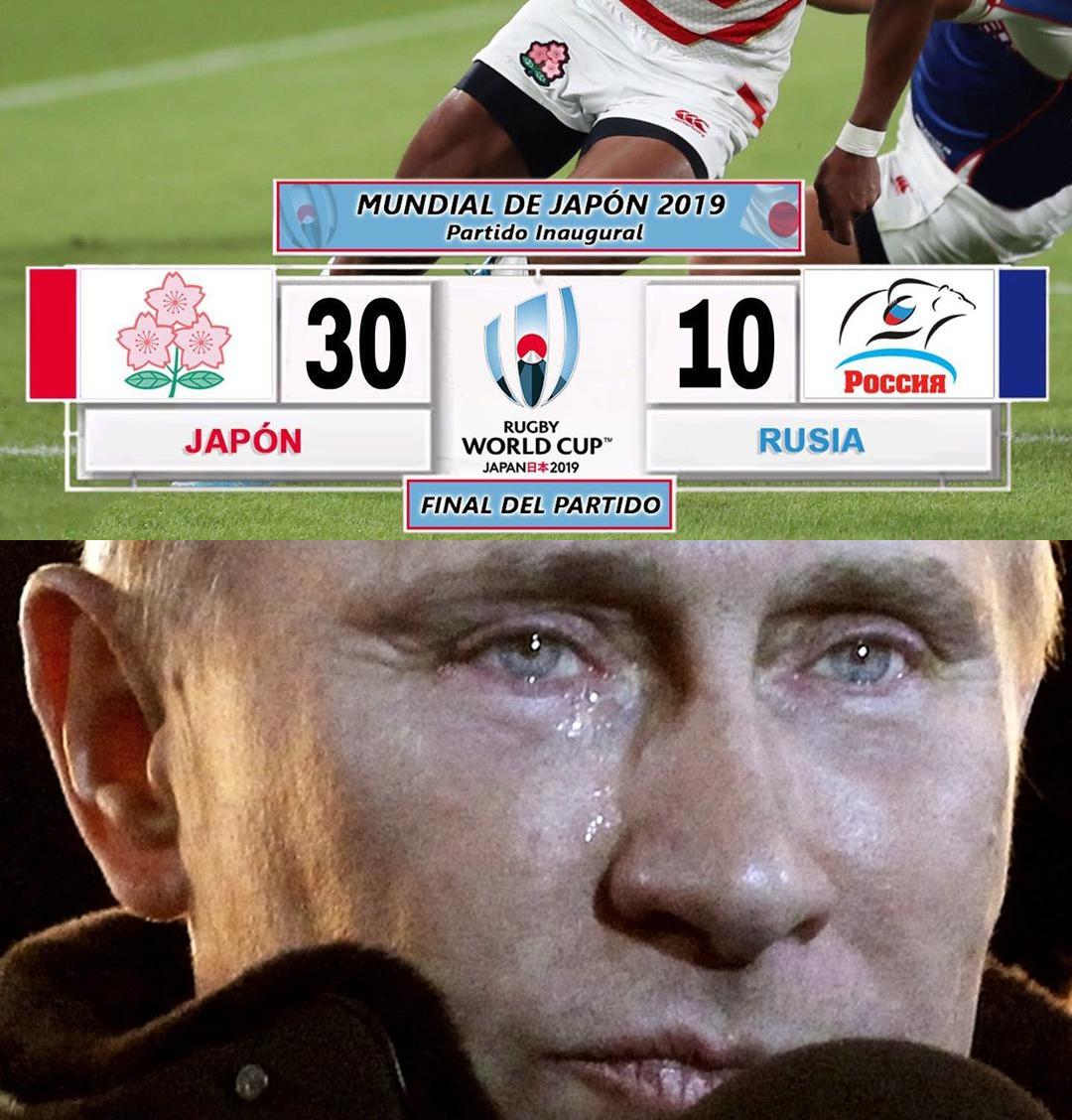 Ya hicieron llorar a Putin - meme