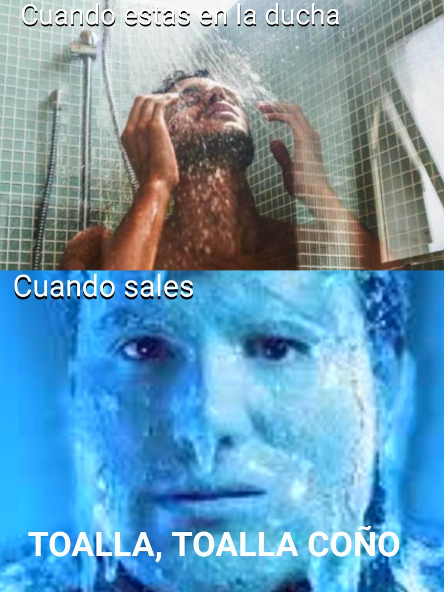 La ducha - meme