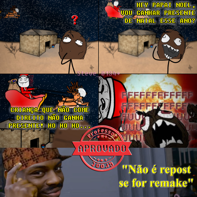 Natal na África - meme