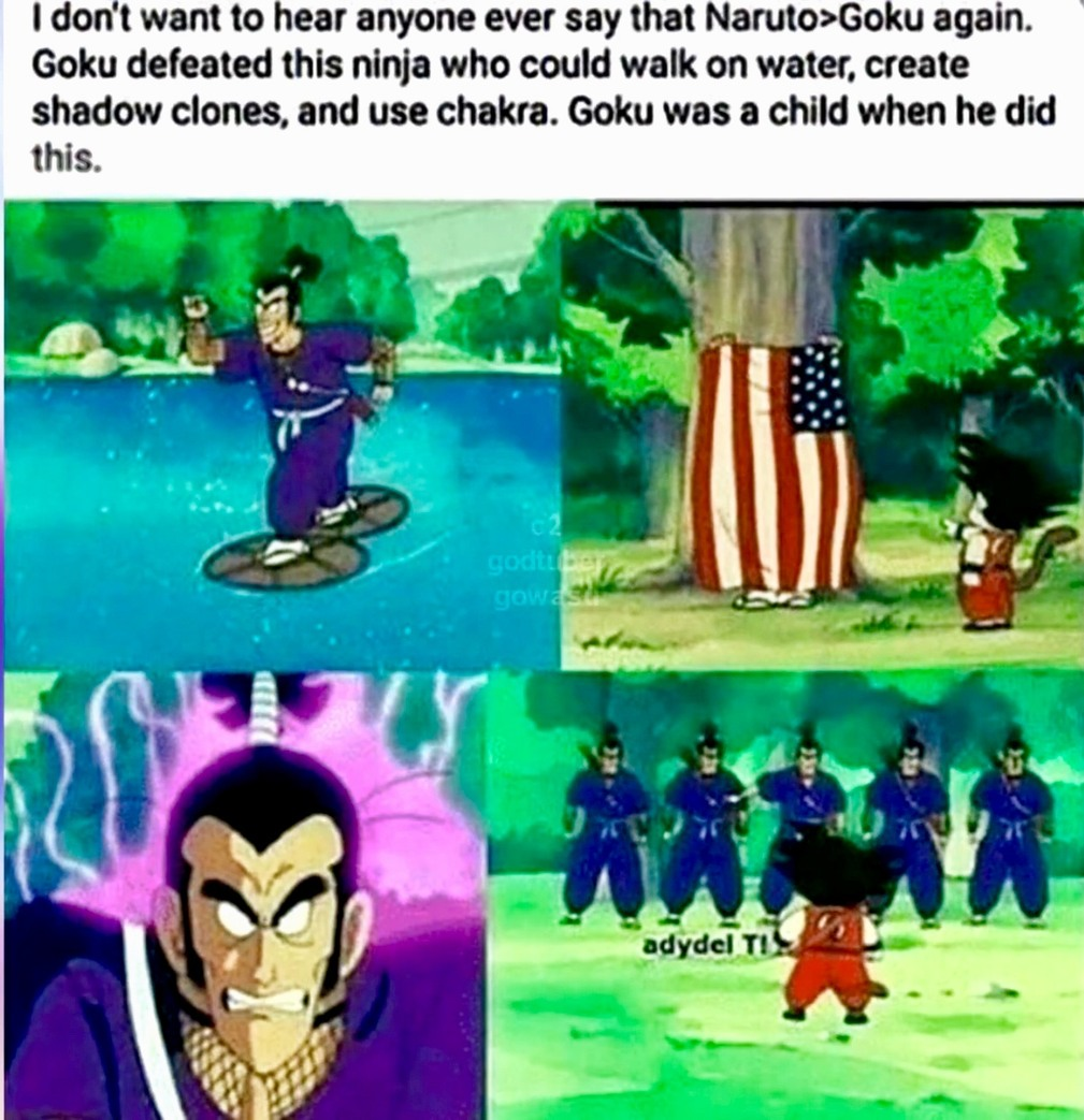 Goku is stronger. - meme