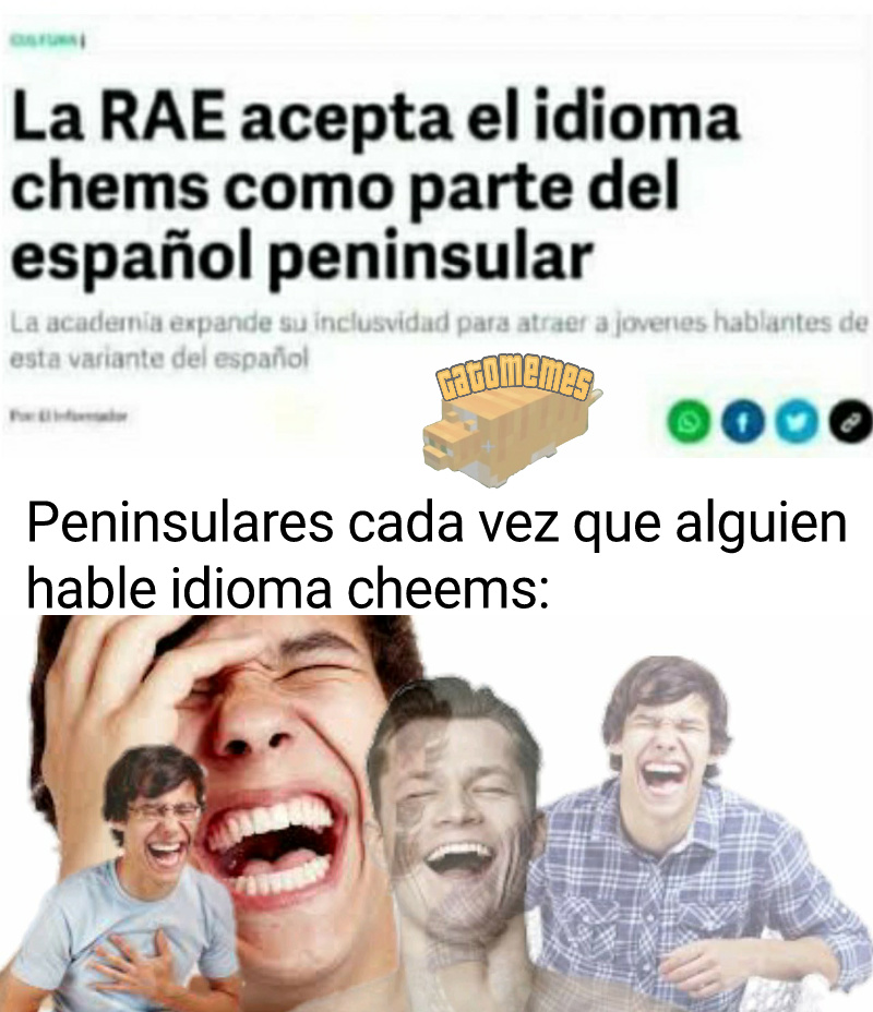 Los peninsulares hablan idioma down :okay: - meme