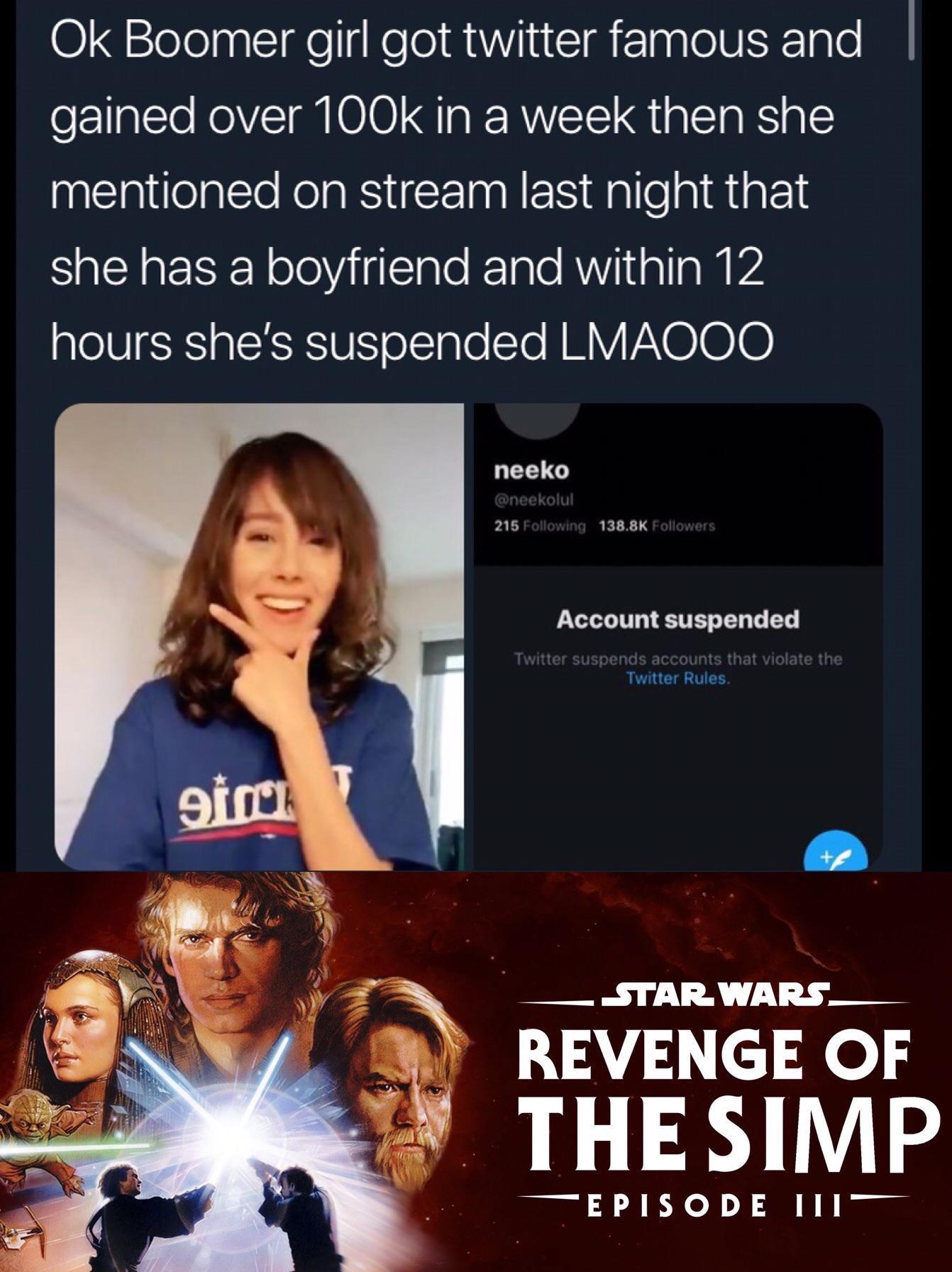 Revenge of the simp - meme