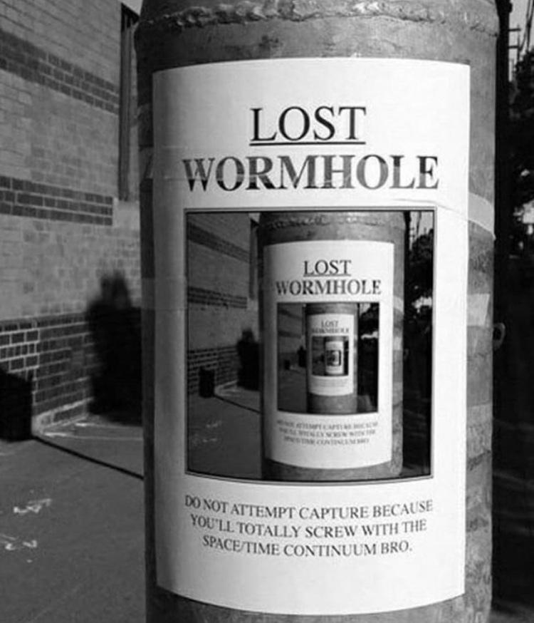 lost wormhole - meme