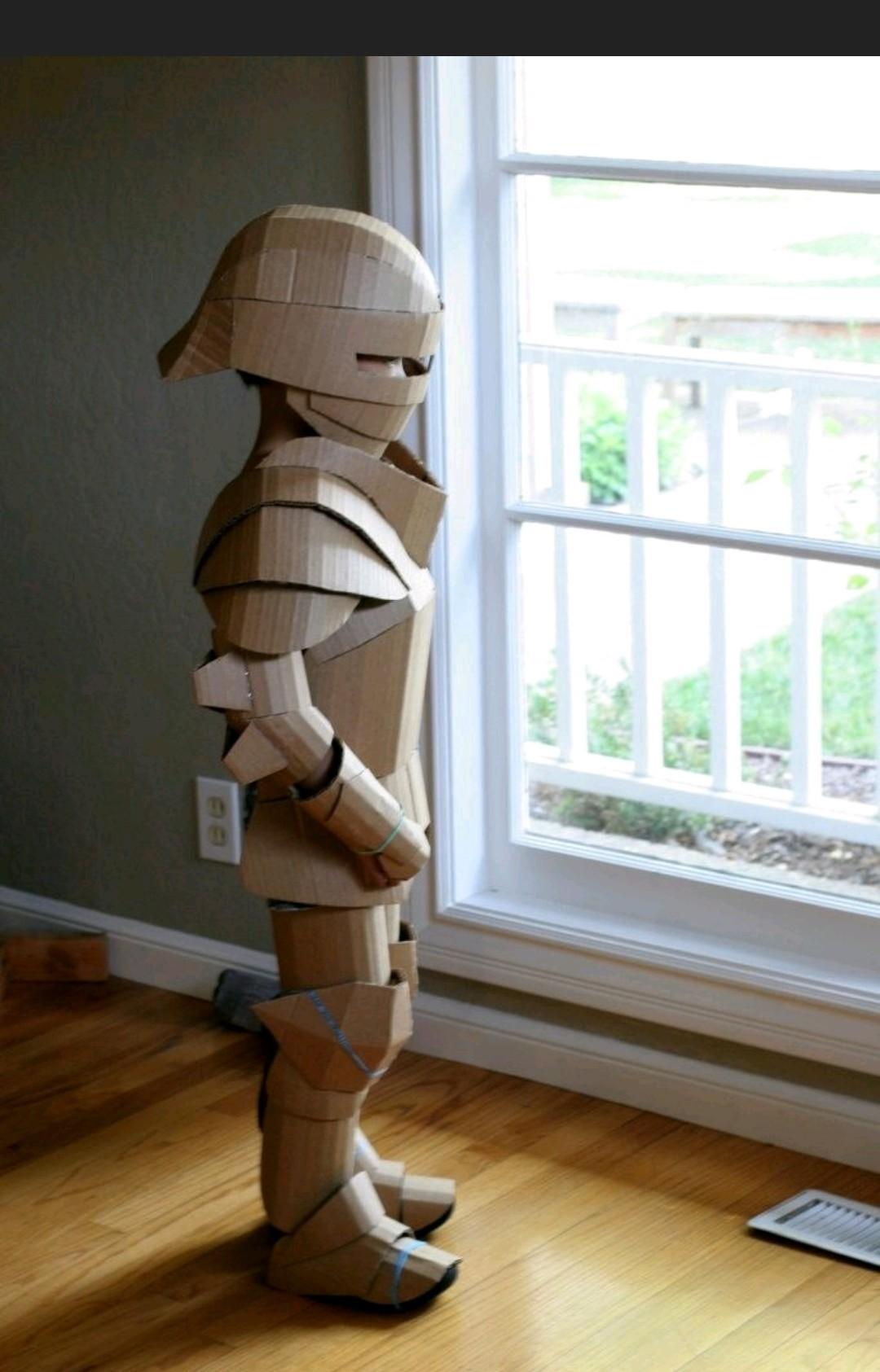 Cardboard armor! - meme