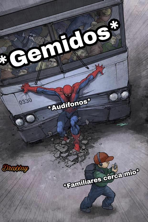 El título se fué a poner audífonos - meme