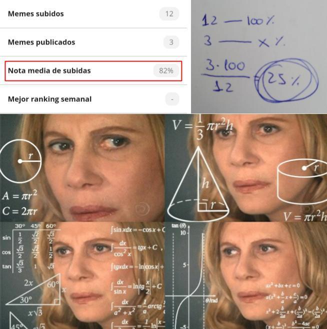 No me salen los cálculos - meme
