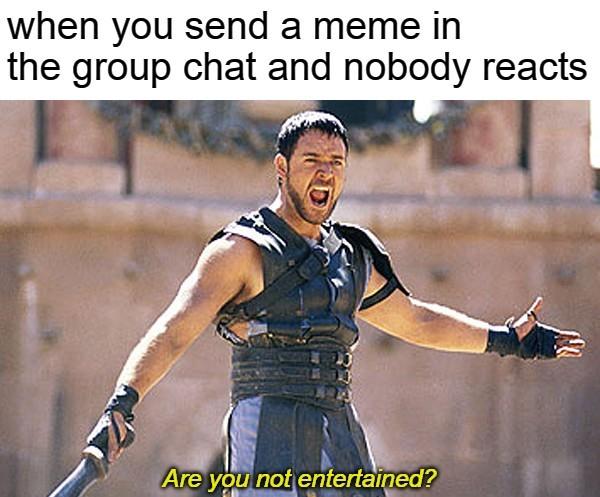 Office group chat is lame af - meme