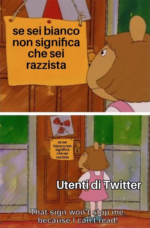 Ho la pubblicità di Twitter in basso lmao - meme