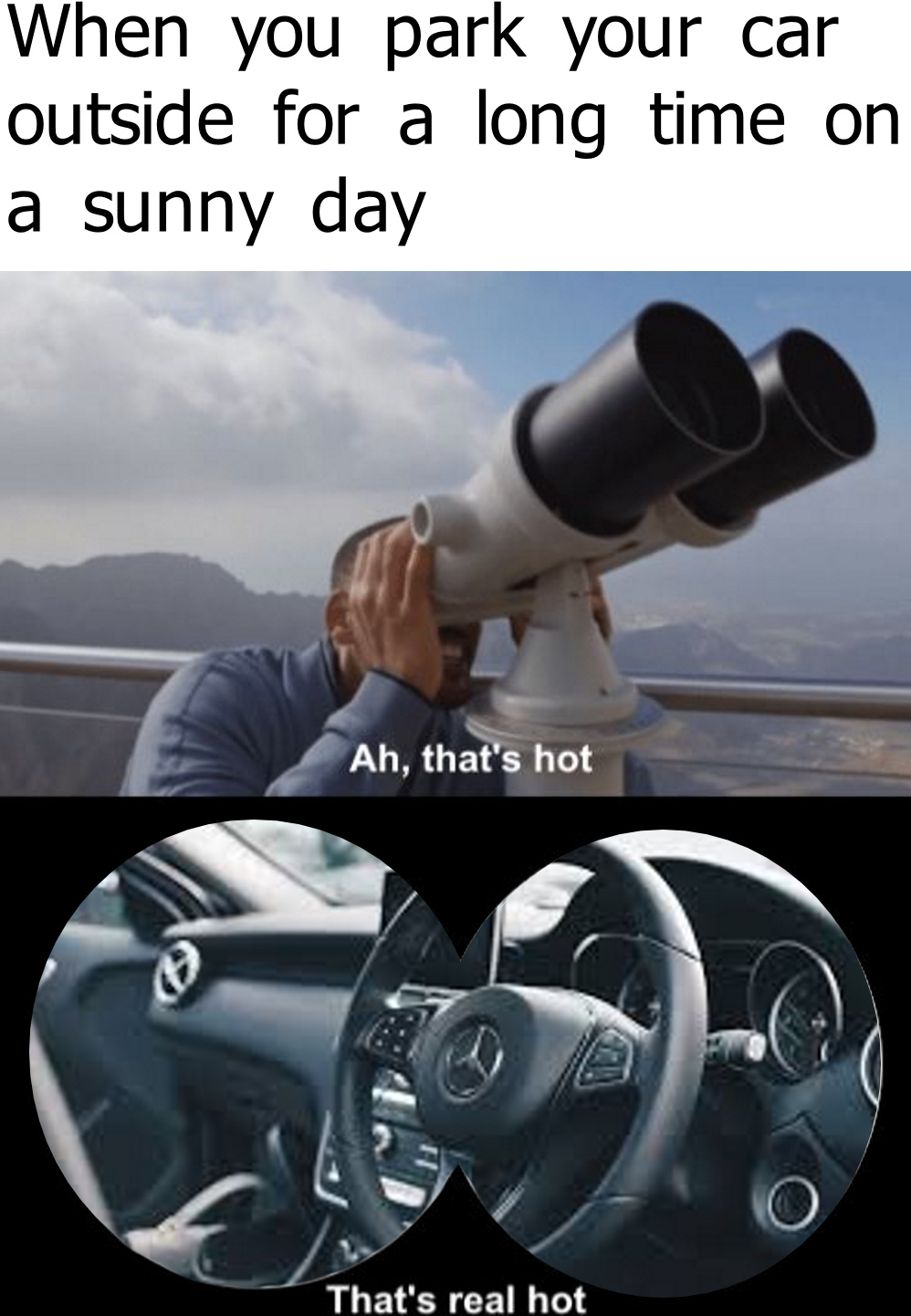 Did you know that the sun is hot? - meme