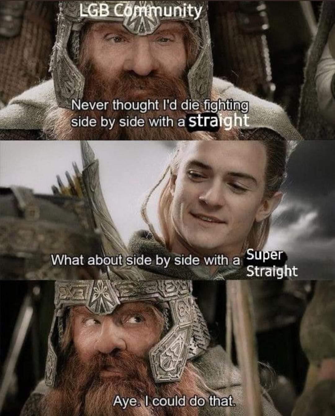 Super Straight Fellowship - meme