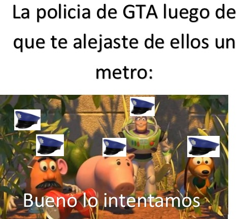 la policía de GTA - meme