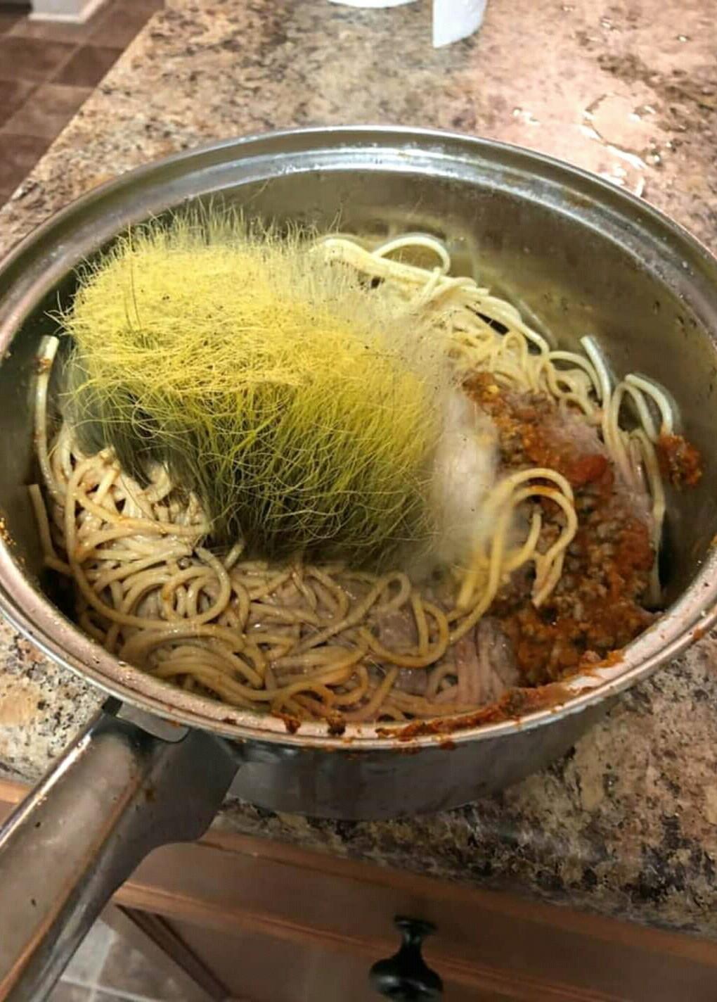 When no one touches your spaghett - meme