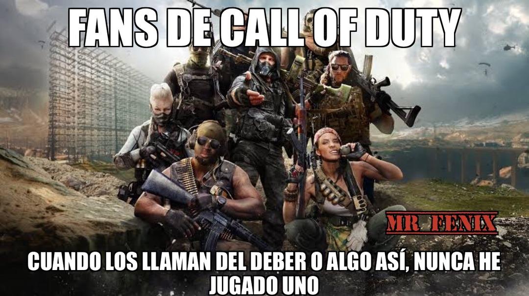Call of Duty= llamado del deber - meme