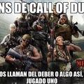 Call of Duty= llamado del deber