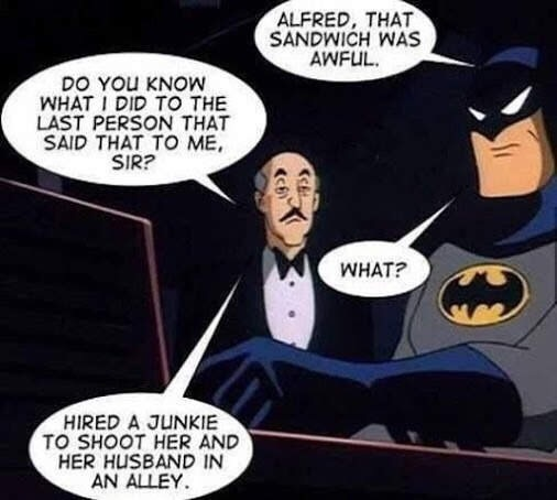 Batman's true origin - meme