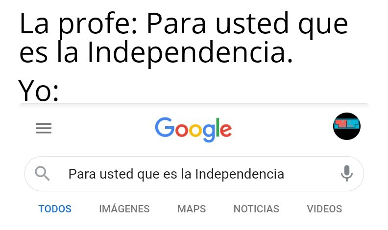 Independencia - meme
