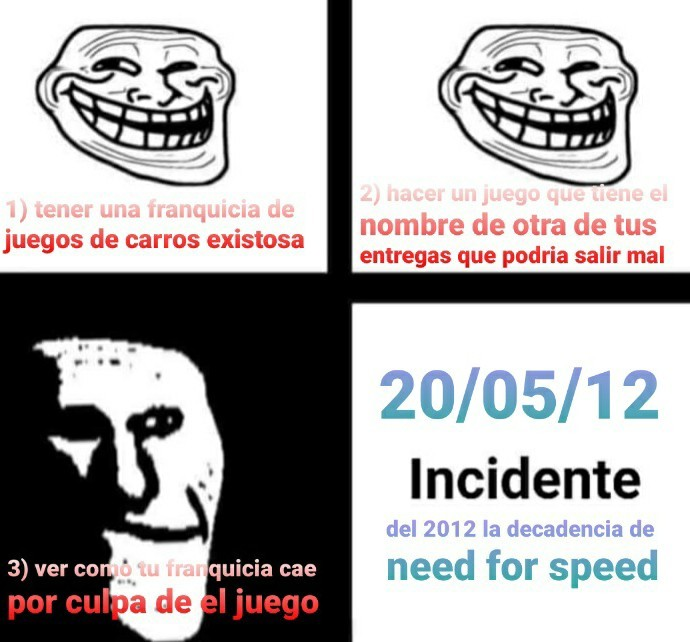 Need for speed most wante del 2012 si eres pendejo - meme