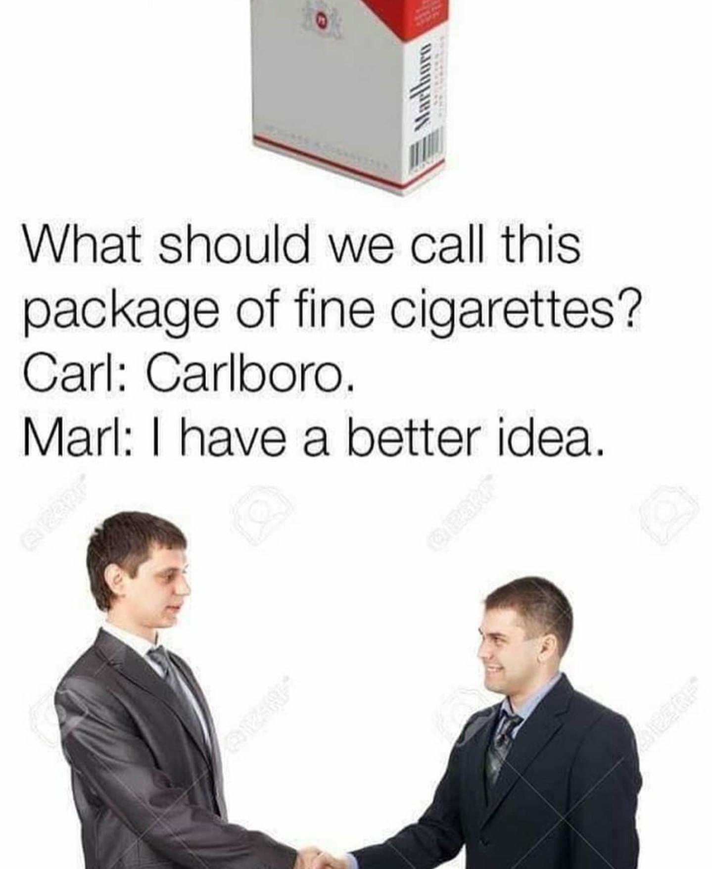Cigs are bad - meme