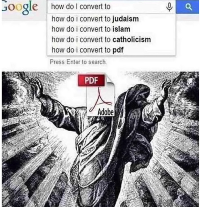 How to I convert to PDF - meme