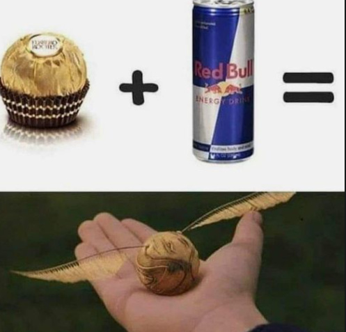 Red Bull gives you wInGs - meme