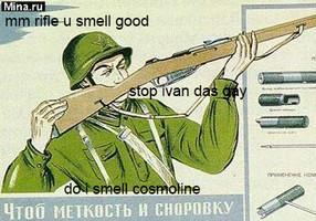 Mmm. fresh rifle - meme