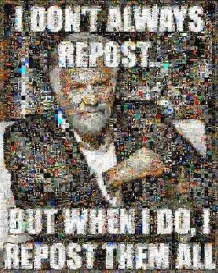 There is no excuse for reposting. - meme