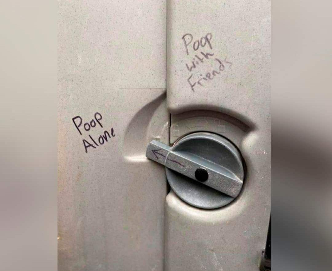 Stranger poops... - meme