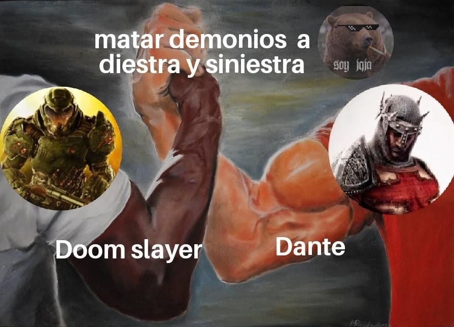 El título se fue a matar demonios - meme