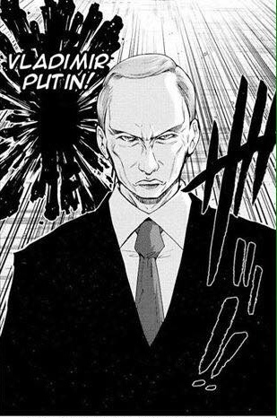 Putin in anime - meme